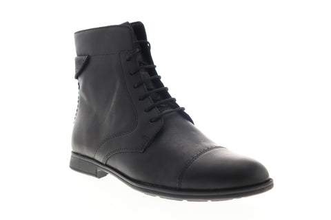 Camper Mil 46503-035 Womens Black Leather Lace Up Dress Boots