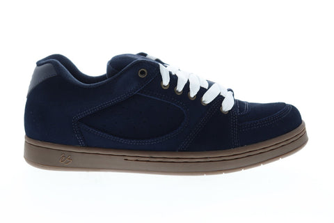 ES Accel OG 5101000139461 Mens Blue Suede Lace Up Athletic Skate Shoes