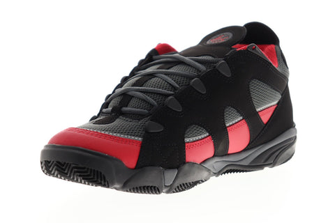 ES Scheme 5101000164595 Mens Black Red Mesh Athletic Lace Up Skate Shoes