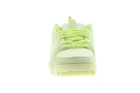 ES Silo 5101000167335 Mens Green Suede Mesh Athletic Lace Up Skate Shoes