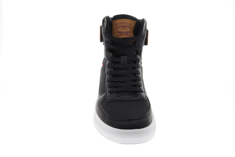 Levis Jeffrey Hi 501 Mens Black Textile High Top Lace Up Sneakers Shoes