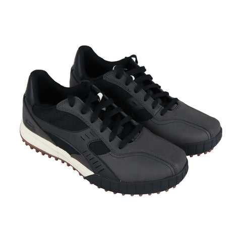 Skechers  Relaxed Fit Floater 2.0 Mens Black Leather Low Top Sneakers Shoes