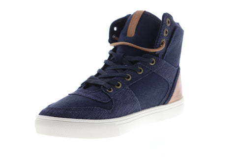 Levis Mason Hi 501 518570-72U Mens Blue Canvas High Top Lifestyle Sneakers Shoes