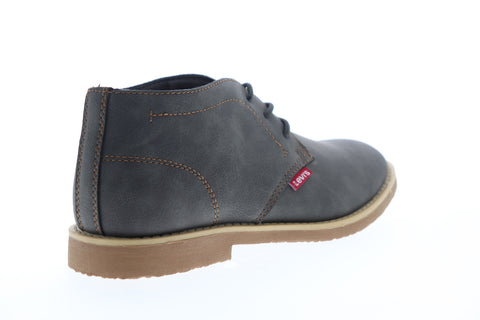 Levis Sonoma Wax NB 518815-10G Mens Gray Mid Top Lace Up Chukkas Boots