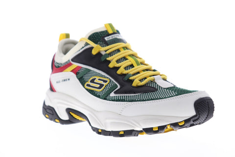 Skechers Stamina Berendo Mens Green Textile Athletic Lace Up Training Shoes