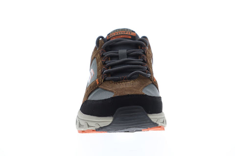Skechers Oak Canyon Mens Brown Suede & Textile Athletic Running Shoes