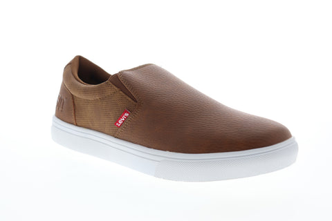 Levis Jeffrey 501 Slip On WX 519220-03L Mens Brown Lifestyle Sneakers Shoes