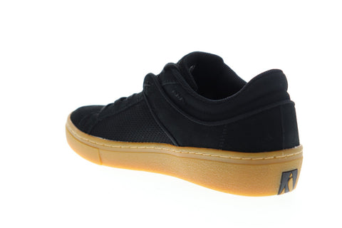 Skechers Goldie Brybe 52464 Mens Black Suede Lace Up Low Top Sneakers Shoes