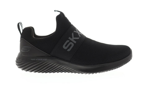 Skechers Bounder Wolfston Mens Black Textile Athletic Training Shoes