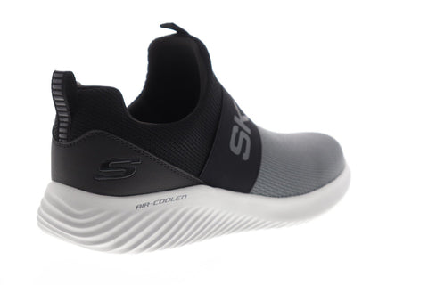 Skechers Bounder Wolfston Mens Gray Textile Athletic Training Shoes