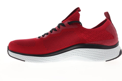 Skechers Solar Fuse Valedge 52757 Mens Red Canvas Athletic Walking Shoes 10