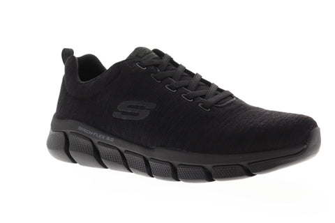 Skechers Flex 3.0 Strongkeep Mens Black Textile Low Top Sneakers Shoes