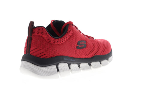 Skechers Flex 3.0 Verko 52857 Mens Red Canvas Athletic Cross Training Shoes