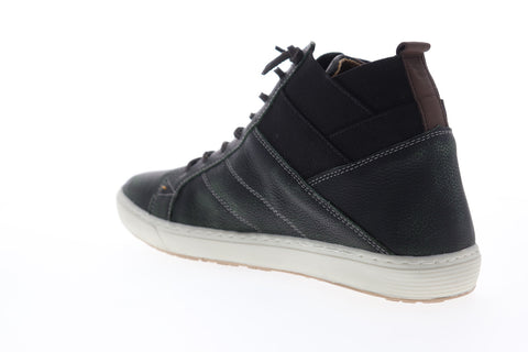 GBX Omni 53003 Mens Black Leather High Top Lace Up Lifestyle Sneakers Shoes