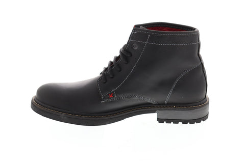 GBX Paeton 577241 Mens Black Leather Lace Up Casual Dress Boots