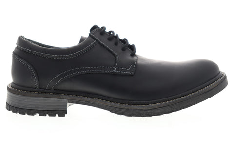 GBX Pyne 577311 Mens Black Leather Casual Lace Up Oxfords Shoes