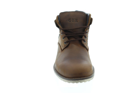 GBX Pinewood Mens Tan Leather Work Lace Up Boots Shoes