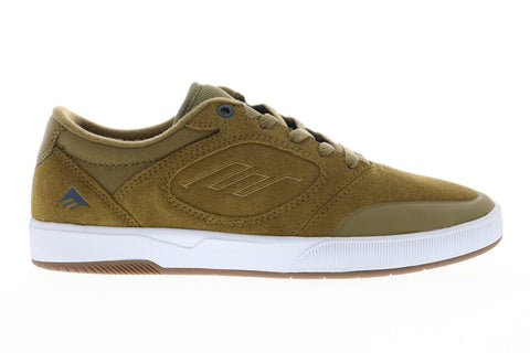 Emerica Dissent Mens Brown Suede Athletic Lace Up Skate Shoes