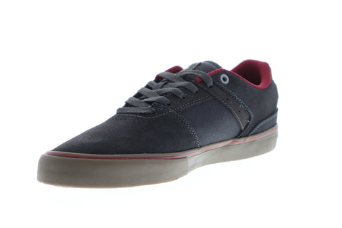 Emerica The Reynolds Low Vulc Mens Gray Suede Athletic Lace Up Skate Shoes