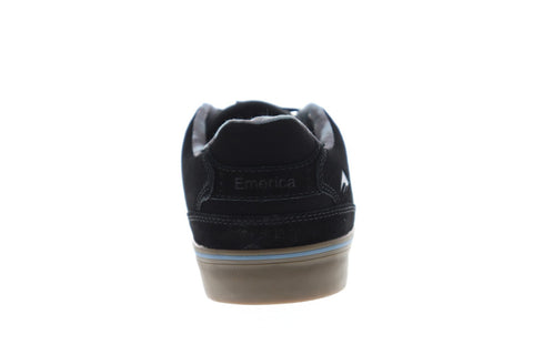 Emerica The Reynolds Low Vulc Mens Black Suede Athletic Lace Up Skate Shoes