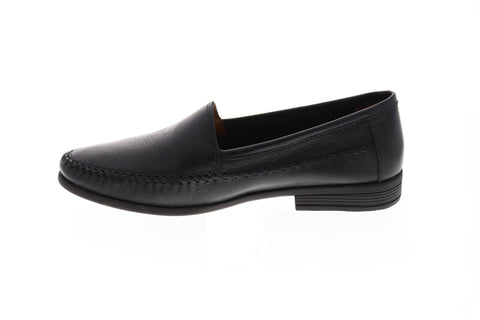 Giorgio Brutini Morty Mens Black Leather Casual Dress Slip On Loafers Shoes