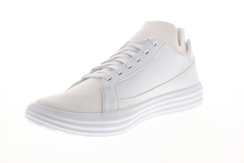 Mark Nason Shogun Down Time 68671 Mens White Leather Low Top Sneakers Shoes