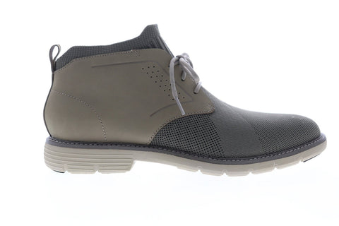 Mark Nason Lite Lugg Webster 68979 Mens Gray Canvas Chukkas Boots Shoes