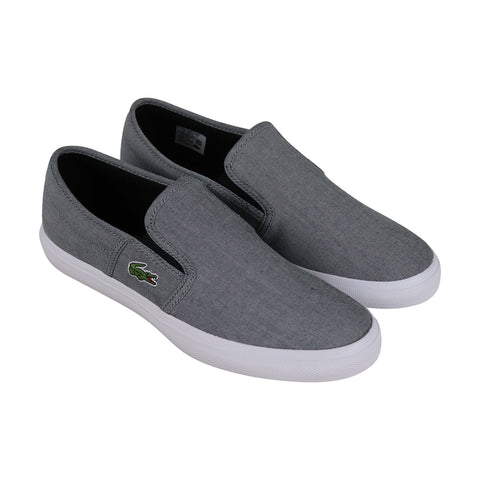Lacoste Gazon Sport 216 Mens Gray Textile Slip On Sneakers Shoes