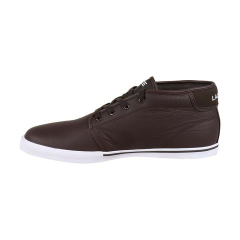 Lacoste Ampthill Lcr3 S Mens Brown Leather Low Top Lace Up Sneakers Shoes