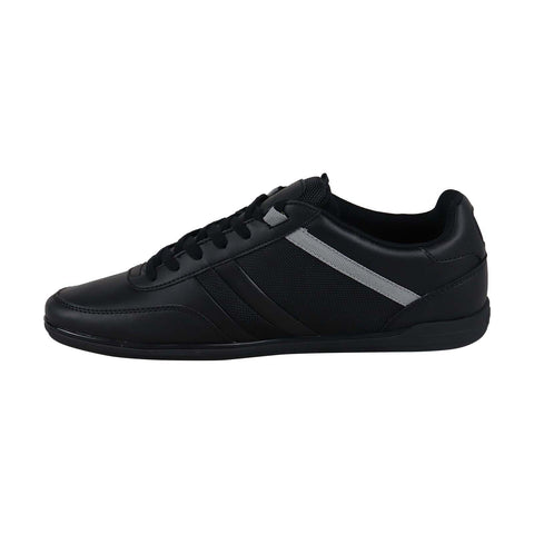 Lacoste Giron 118 1 U Cam Mens Black Leather Low Top Lace Up Sneakers Shoes