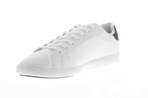 Lacoste Graduate Lcr3 1 Mens White Leather Low Top Lace Up Sneakers Shoes