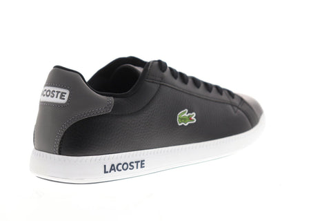 Lacoste Graduate Lcr3 1 Mens Black Synthetic Low Top Lace Up Sneakers Shoes