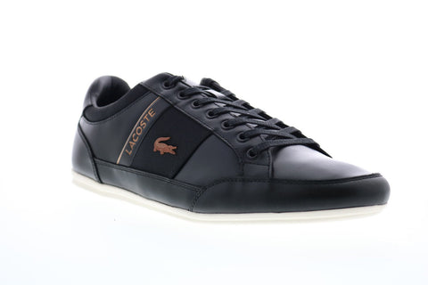 Lacoste Chaymon 318 7 U 7-36CAM0084454 Mens Black Leather Low Top Sneakers Shoes