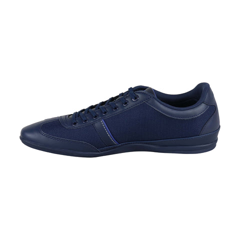 Lacoste Misano Sport 31 Mens Blue Leather & Nylon Low Top Sneakers Shoes