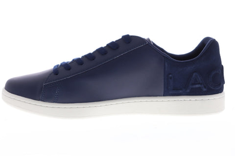 Lacoste Carnaby Evo 418 Mens Blue Synthetic Low Top Lace Up Sneakers Shoes