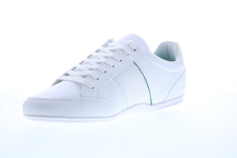 Lacoste Nivolor 119 1 P 7-37CMA0092082 Mens White Leather Low Top Sneakers Shoes