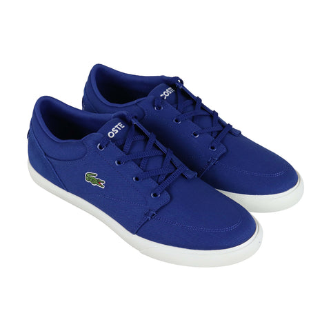 Lacoste Bayliss 219 1 Cma Mens Blue Canvas Low Top Lace Up Sneakers Shoes