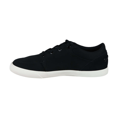 Lacoste Bayliss 219 1 Cma Mens Black Canvas Low Top Lace Up Sneakers Shoes
