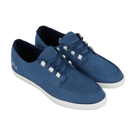 Lacoste Esparre Deck 219 1 Cma Mens Blue Suede Low Top Sneakers Shoes