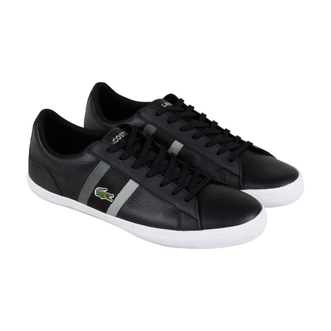 Lacoste Lerond 119 3 CMA Mens Black Leather Lace Up Lifestyle Sneakers Shoes