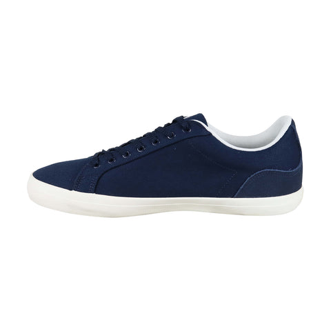 Lacoste Lerond 219 1 Cma Mens Blue Canvas Low Top Lace Up Sneakers Shoes
