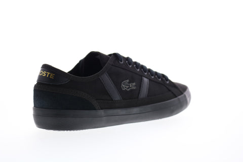 Lacoste Sideline 119 1 CMA Mens Black Canvas Lace Up Lifestyle Sneakers Shoes