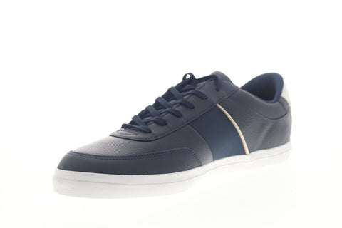 Lacoste Court Master 319 6 CMA Mens Blue Leather Low Top Sneakers Shoes