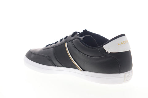 Lacoste Court Master 319 6 CMA Mens Black Leather Low Top Sneakers Shoes