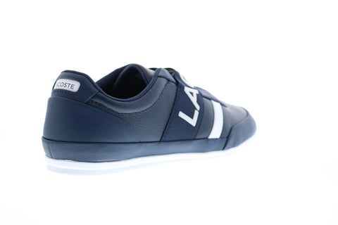 Lacoste Misano Elastic 3191 U CMA Mens Blue Leather Lifestyle Sneakers Shoes
