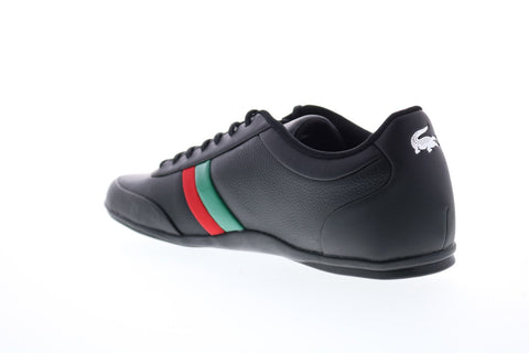 Lacoste Storda Sport 319 Mens Black Leather Low Top Sneakers Shoes
