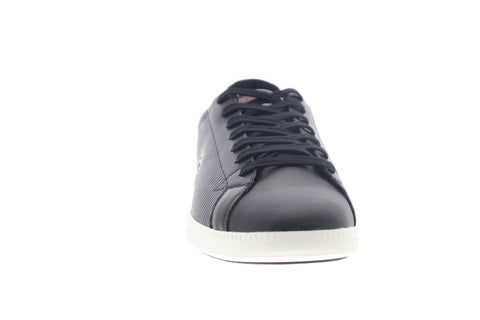 Lacoste Graduate 319 2 SMA Mens Black Leather Lace Up Low Top Sneakers Shoes