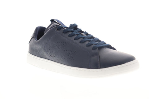 Lacoste Carnaby Evo Light WT 3191 Mens Blue Leather Low Top Sneakers Shoes