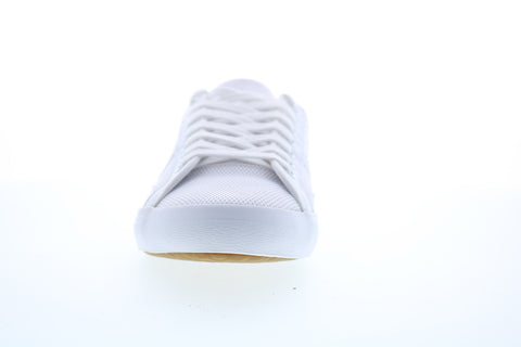 Lacoste Sideline 220 1 Mens White Canvas Lace Up Lifestyle Sneakers Shoes