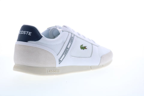 Lacoste Menerva Sport 0120 1 Mens White Mesh Lace Up Lifestyle Sneakers Shoes